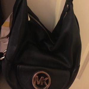 Michael Kors Black Hobo Leather Bag